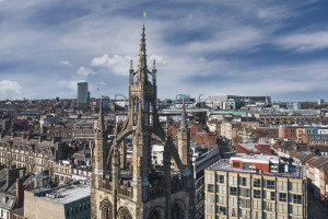 Newcastle Cathedral and city scene