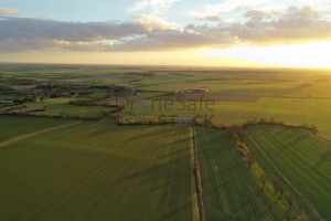 Winter sun over country fields