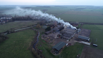 Smoke pollution in the countryside