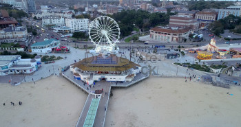 Pier entrance and Ferris wheel on Bournemouth Seafront