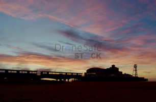 Silhouette of Bournemouth Pier at sunrise