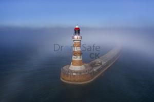 Roker pier breaking the fog