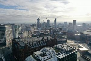 Manchester Skyline aerial