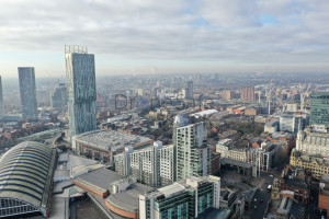 Manchester Skyline from the air