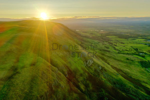 Sunrise over the Campsie Hills
