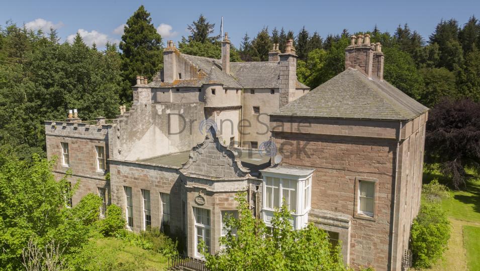 Craig castle, Aberdeenshire aerial image