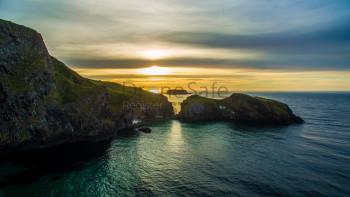 Sunset Carrick-a-rede