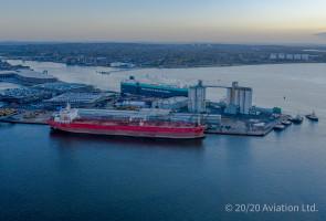 Nave Andromeda alongside at Southampton