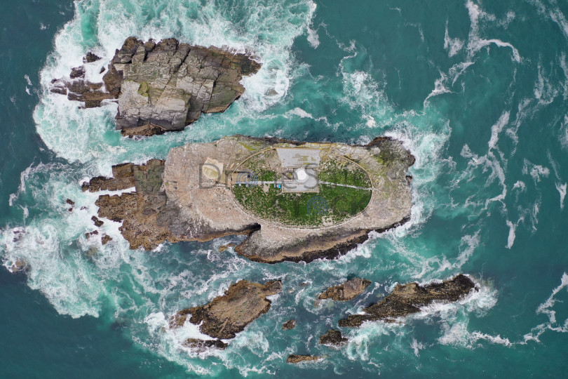 Lighthouse island from above