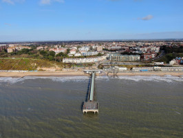 Boscombe pier and beach