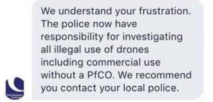 CAA Drone Law UK Drone Safe Register