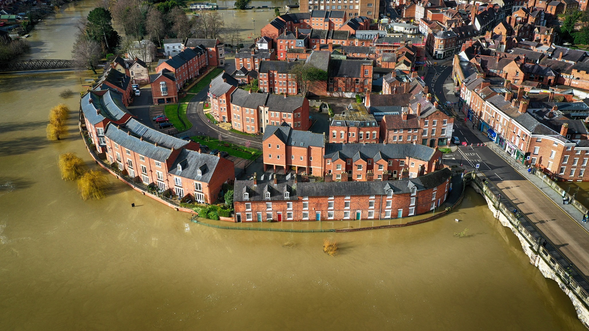 Lincolnshire Drones Capture Flooding in Shrewsbury for insurance evidence